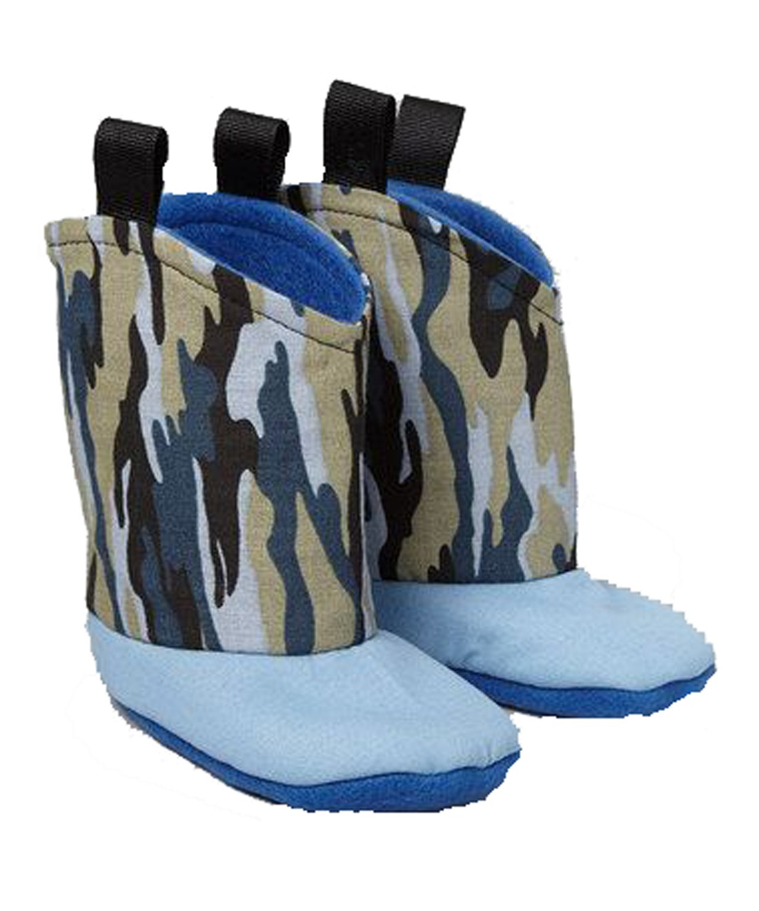 Blue Camouflage Boots