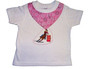 Barrel Racer Cowgirl T-shirt