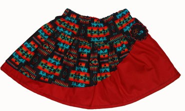 Native American Red Skirt (comes with free blank T-Shirt)