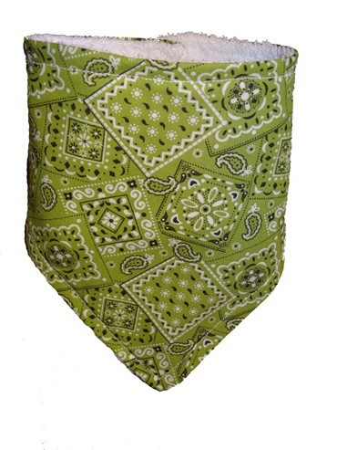 Lime Green Bandana Bib
