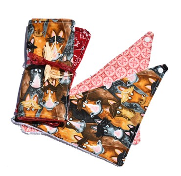 Horse/Bandana Burp-cloths with 2 Bib Gift Set