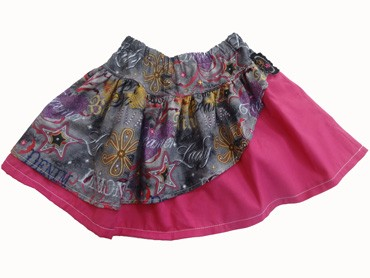 Pink Diva Gray Skirt (comes with free blank T-Shirt)