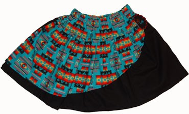 Native American Turquoise Skirt (comes with free blank T-Shirt)