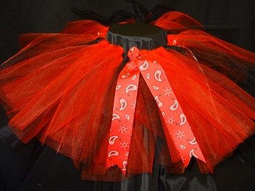 Red and Black Cowgirl Tutu