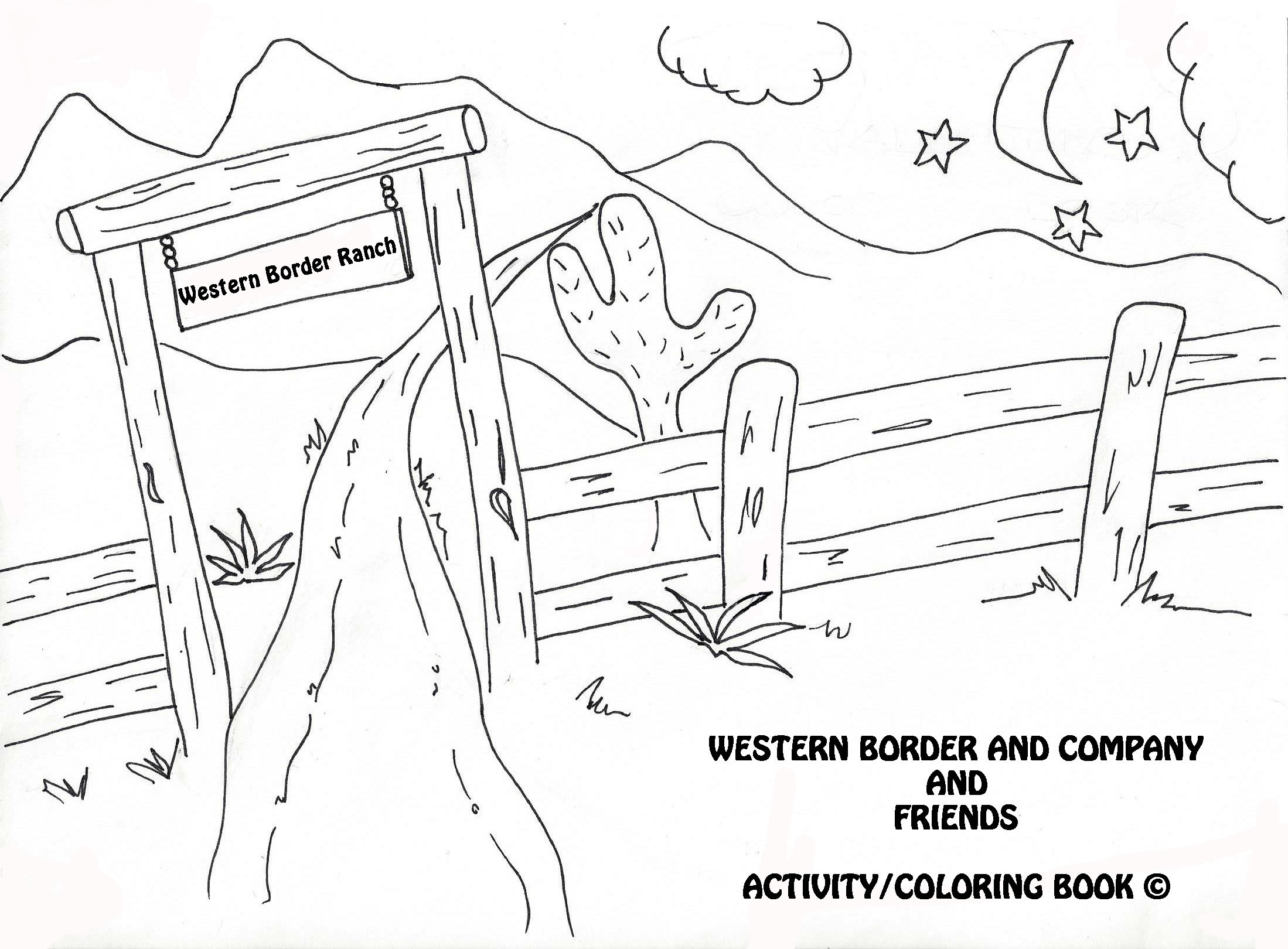 Coloring Pages Western Border and Company